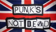 PUNKS NOT DEAD FLAG - 5 X 3 FEET
